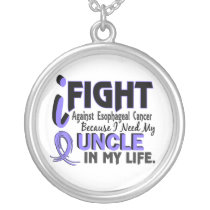 I Need My Uncle Esophageal Cancer Silver Plated Necklace