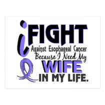 I Need My Wife Esophageal Cancer Postcard