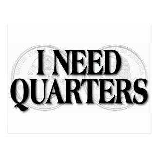 I Need Quarters Postcard