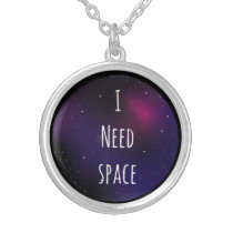 I need Space/Galaxy Silver Plated Necklace