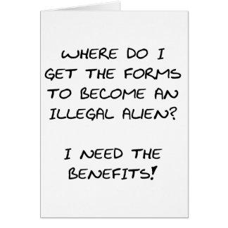 I need the benefits... card