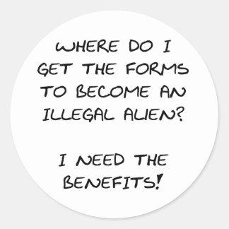 I need the benefits... classic round sticker