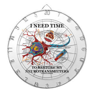 I Need Time To Restore My Neurotransmitters Dartboard With Darts