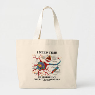 I Need Time To Restore My Neurotransmitters Large Tote Bag