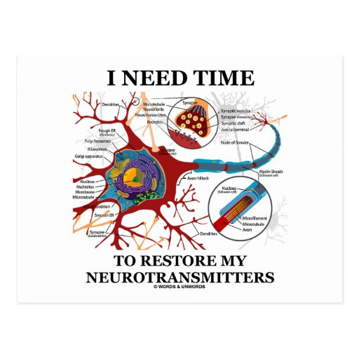 I Need Time To Restore My Neurotransmitters Postcard
