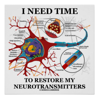 I Need Time To Restore My Neurotransmitters Poster