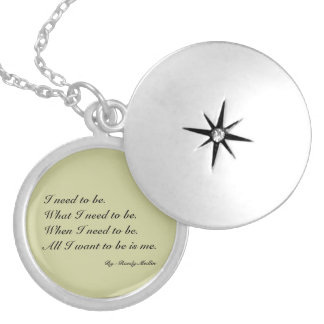 I need to be...Necklace Round Locket Necklace