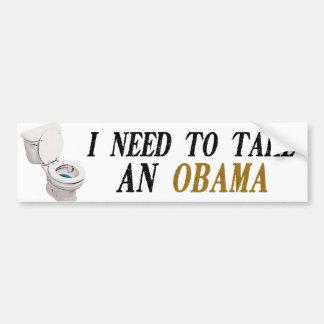 I need to take an Obama Bumper Sticker