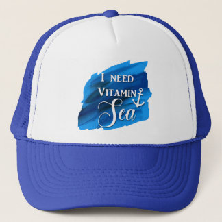I Need Vitamin Sea Beach Anchor Cute Blue Hat