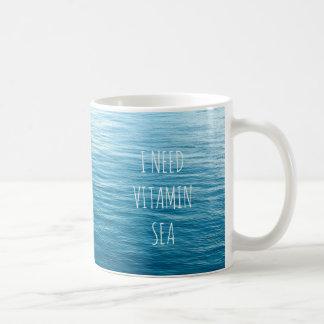 I NEED VITAMIN SEA - Mug with sea background.