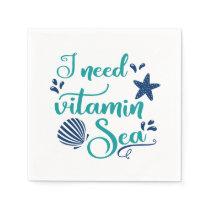 i need vitamin sea napkin