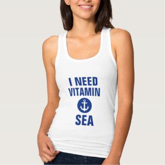 I Need Vitamin Sea Nautical Blue Anchor Tank Top