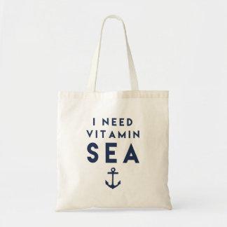 I Need Vitamin Sea Navy Anchor Quote Tote Bag