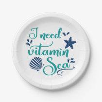 i need vitamin sea paper plate