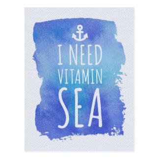 I Need Vitamin Sea Postcard