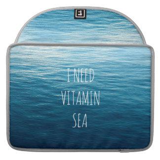 I NEED VITAMIN SEA - Rickshaw Macbook Sleeve. MacBook Pro Sleeve
