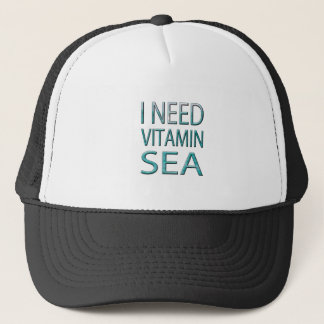 I NEED VITAMIN SEA TRUCKER HAT