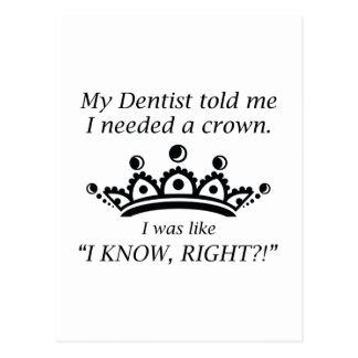 I Needed A Crown Postcard