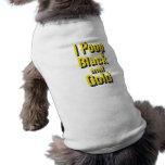 I negro y oro del impulso ropa para mascota