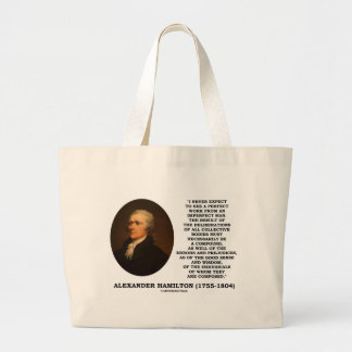 I Never Expect To See Perfect Work Imperfect Man Large Tote Bag