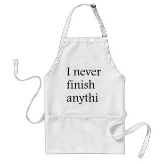 I never finish anything aprons