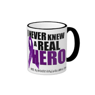I NEVER KNEW A REAL HERO.... Bestfriend Ringer Coffee Mug