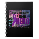 I never knew a Real hero until my wife became one Spiral Notebooks