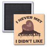 I NEVER MET A CHOCOLATE I DIDN'T LIKE MAGNETS