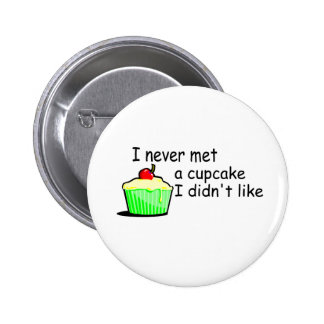 I Never Met A Cupcake I Didnt Like Pinback Button