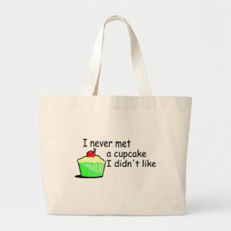 I Never Met A Cupcake I Didnt Like Large Tote Bag