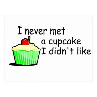 I Never Met A Cupcake I Didn't Like Postcard