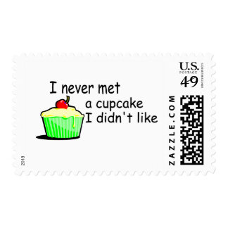 I Never Met A Cupcake I Didn't Like Stamps