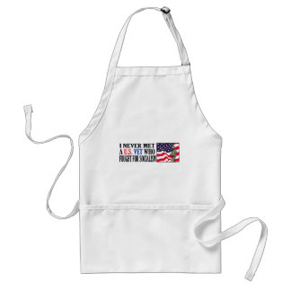 I Never Met A US Vet Who Fought For Socialism Adult Apron