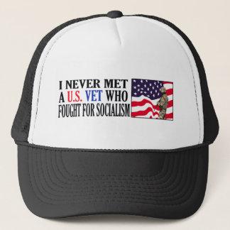 I Never Met A US Vet Who Fought For Socialism Trucker Hat