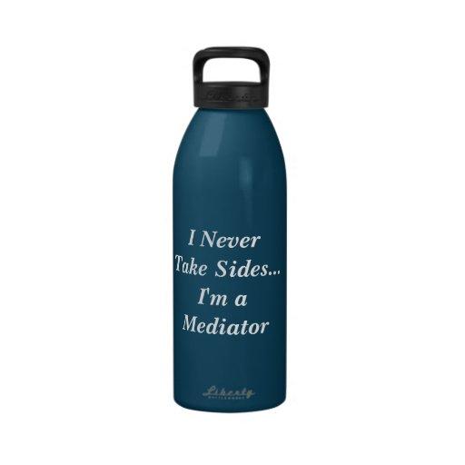 I Never Take Sides...Blue Bottle Reusable Water Bottle