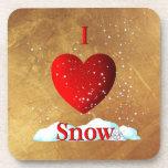 I nieve del corazón posavaso