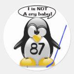 I no es un bebé del grito pegatina redonda