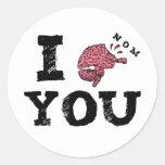 I nom You Classic Round Sticker