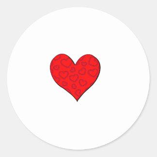 I nombre del corazón etiquetas redondas