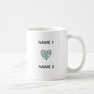 I nombre del corazón taza clásica