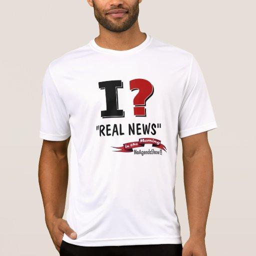 """¿i? """"Noticias reales"""", por la mañana Camisetas"""
