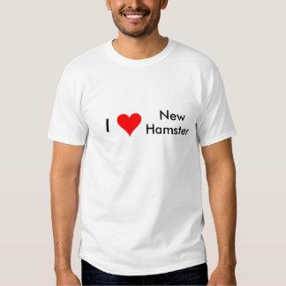 I nuevo hámster del corazón camisas