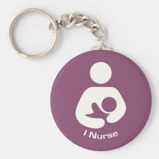 I Nurse Breastfeeding Icon - Mauve Keychain