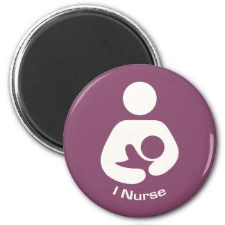 I Nurse Breastfeeding Icon - Mauve Magnet