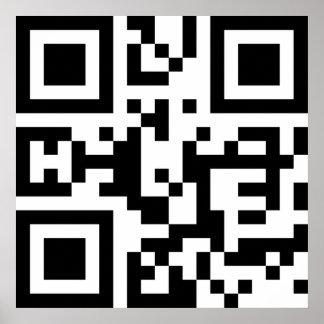 I❤NY -- Código de QR Póster