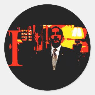 i,OBAMA: Narcissist-in-Chief Classic Round Sticker