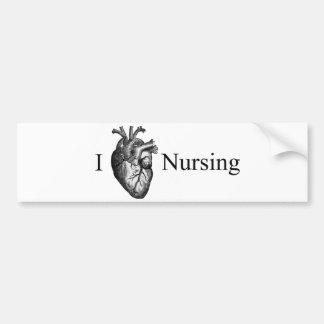 I oficio de enfermera del corazón pegatina para auto