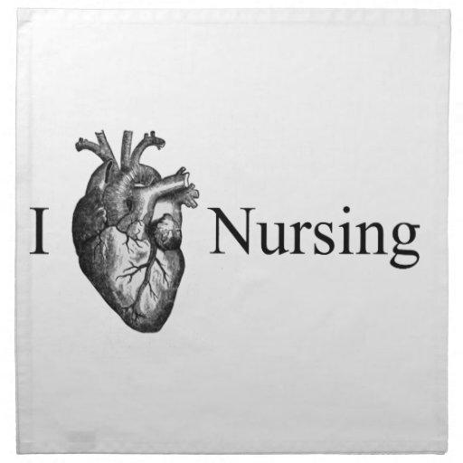I oficio de enfermera del corazón servilletas de papel