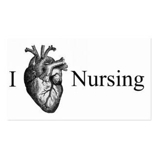 I oficio de enfermera del corazón plantillas de tarjetas de visita