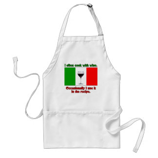 I Often Cook With Wine Adult Apron